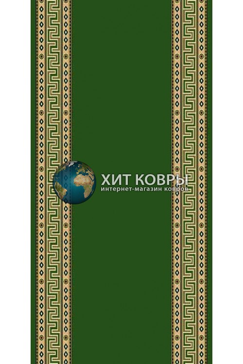 Кремлевская ковровая дорожка Кремлевка 5463 зеленый
