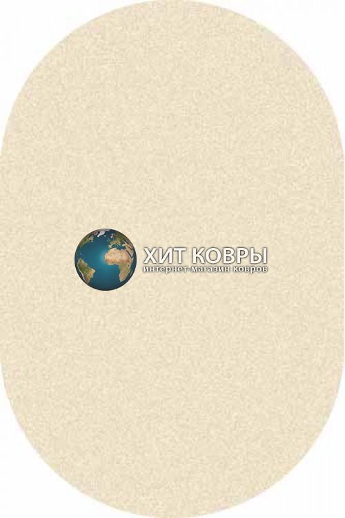 Российский ковер  овальный Platinum t600 кремовый