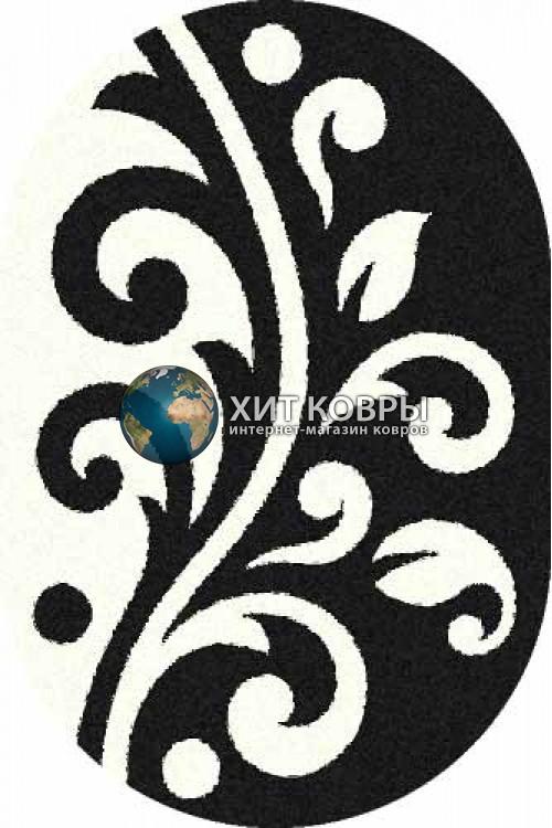 Российский ковер  овальный Platinum t621 черный natural